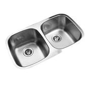 Ukinox 30.33'' x 17.75'' Undermount Double Bowl Stainless Steel Kitchen Sink