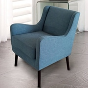 AdecoTrading Arm Chair; Blue
