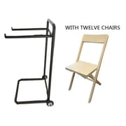 A&B Home Group, Inc 13 Piece Standard Flat Side Chair Set with Trolley