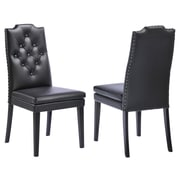 !nspire Side Chair (Set of 2); Black