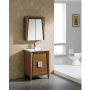 Fine Fixtures Imperial II 24'' x 27'' Surface Mount Flat Medicine Cabinet; Wheat