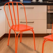 AdecoTrading Side Chair (Set of 2); Orange
