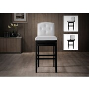 Wholesale Interiors Baxton Studio 30.23'' Swivel Bar Stool (Set of 2); White