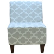 Fox Hill Trading Penelope Armless Fynn Slipper Chair; Gray