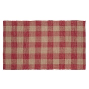 VHC Brands Breckenridge Red/Tan Area Rug; 6' x 9'