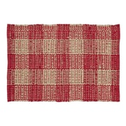 VHC Brands Breckenridge Red/Tan Area Rug; 4' x 6'