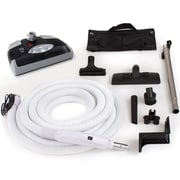 GV 35 Ft Central Vacuum Kit w/ Carpet Power Head, Hose and Tool