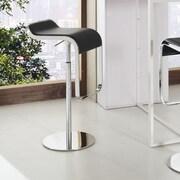 Modway LEM Adjustable Height Swivel Bar Stool with Cushion; Black