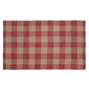 VHC Brands Breckenridge Red/Tan Area Rug; 3' x 5'