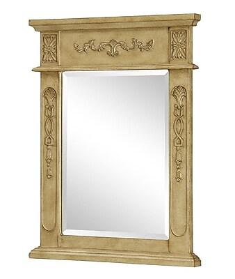 Elegant Lighting Danville Vanity Mirror; Antique Beige