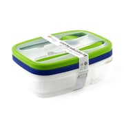 Imperial Home Variety Bento Lunch Box Container Set; Green/ Blue