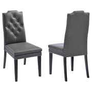 !nspire Side Chair (Set of 2); Grey