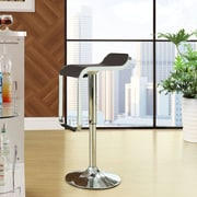 Modway LEM Adjustable Height Swivel Bar Stool with Cushion; Brown