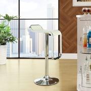 Modway LEM Adjustable Height Swivel Bar Stool with Cushion; White