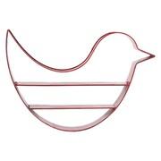 "Urban Trends Bird-Shaped Metal Shelf, 25.75"" x 4.75"" x 17.5"", Red (12342)"