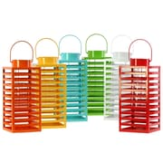 "Urban Trends Metal Lantern, 6.75""L x 6.75""W x 15.75""H, White, Orange, Green, Blue, 6/Set (22201-AST)"