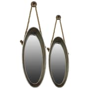 "Urban Trends Metal Mirror, 13.75"" x 34.75"" x 7"", Gray, 2/SET (33095)"