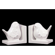 "Urban Trends Ceramic Bookend, 7"" x 4.5"" x 6"", White (40033)"