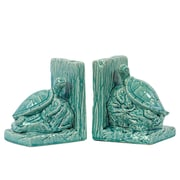 "Urban Trends Ceramic Bookend, 6"" x 4.5"" x 6.5"", Turquoise (40047)"