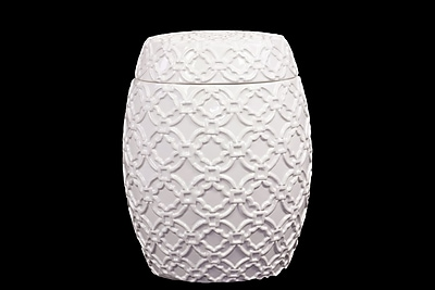 """""""""""Urban Trends Ceramic Canister, 8.5"""""""""""""""" x 8.5"""""""""""""""" x 11"""""""""""""""", White (40060)"""""""""""" 2032950"""