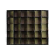 "Urban Trends 30-Slot Wood Shelf, 40"" x 8"" x 32.5"", Black (40164)"