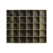 """Urban Trends Wood Shelf, 40""""L x 8""""W x 32.5""""H, Brown (40165)"""