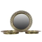 "Urban Trends Metal Mirror, 18.5"" x 18.5"" x 2"", Gold, 3/SET (94150)"