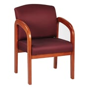 Office Star® Custom Oak Wood Visitor's Chair, Wine