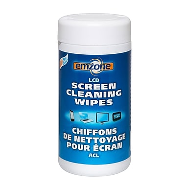 Emzone 47090 LCD Screen Cleaning Wipes in Tub, 12 pack