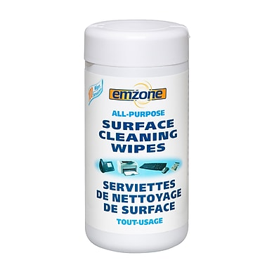 Emzone 47091 All Purpose Surface Cleaning Wipes in Tub, 12 pack
