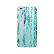 OTM Essentials Artist Prints Clear Phone Case for Use with iPhone 5/5S, Dashes Peacock (OP-IP5V1CLR-ART01-23)