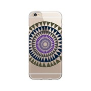 OTM Essentials Artist Prints Clear Phone Case for Use with iPhone 6/6S, Sun Print Purple Ivy (OP-IP6V1CLR-ART01-29)