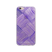 OTM Essentials Artist Prints Clear Phone Case for iPhone 5/5s, Woven Dark Violet (OP-IP5V1CLR-ART01-13)