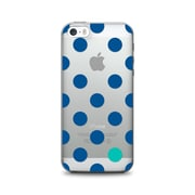 OTM Essentials Classic Prints Phone Case for Use with iPhone 5/5S, Dotty Gone Blue, Clear (IP5V1CLR-DOT-01)