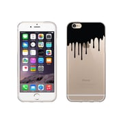 OTM Essentials Iconic Prints Clear Phone Case for Use with iPhone 6 Plus, Black Drip (IP6PV1CLR-ICN-02)