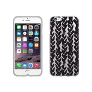 OTM Essentials Classic Prints Clear Phone Case for Use with iPhone 6/6S, Black on Clear Hearts (IP6V1CLR-BOC-01)