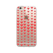 OTM Essentials Classic Prints Phone Case for Use with iPhone 6/6S, Falling Red Hearts, Clear (IP6V1CLR-CLS-07)