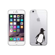 OTM Essentials Critter Prints Clear Phone Case for Use with iPhone 6 Plus, Penguin (IP6PV1CLR-CRIT-02)