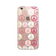 OTM Prints Clear Phone Case, Pink Peace - iPhone 6/6S Plus