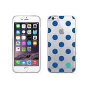 OTM Essentials Classic Prints Clear Phone Case for Use with iPhone 6 Plus, Dotty Gone Blue (IP6PV1CLR-DOT-01)