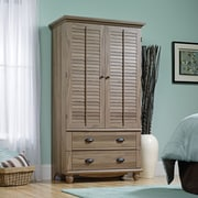 Harbor View Armoire, Salt Oak 2 Ctns