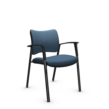 Global Zoma Designer Armchair, Imprint, Ocean Fabric, Blue