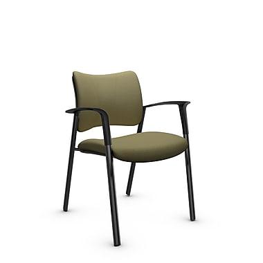 Global Zoma Designer Armchair, Imprint, Oregano Fabric, Green