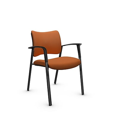 Global Zoma Designer – Fauteuil, tissu imprimé paprika, orange