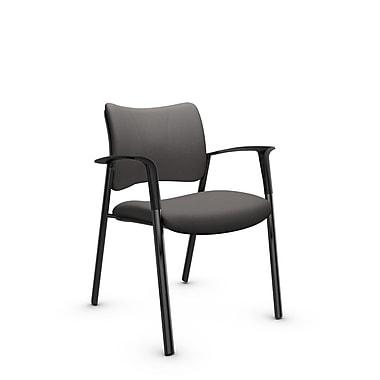 Global Zoma Designer Armchair, Imprint, Graphite Fabric, Grey