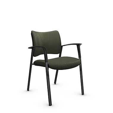 Global Zoma Designer Armchair, Match, Moss Fabric, Green