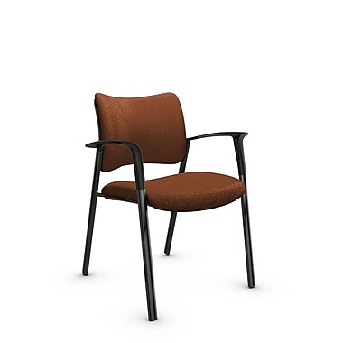 Global Zoma Designer Armchair, Match, Sunset Fabric, Orange