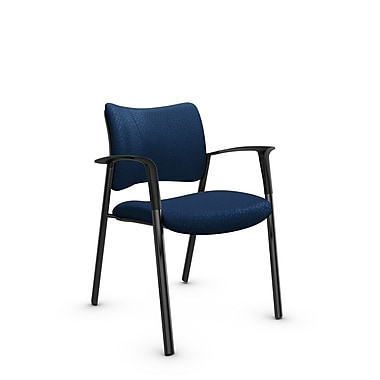 Global Zoma Designer Armchair, Match, Wave Fabric, Blue