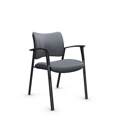 Global Zoma Designer Armchair, Match, Grey Fabric, Grey