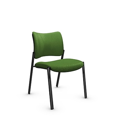 Global Zoma Designer Side Chair, Match, Green Fabric, Green